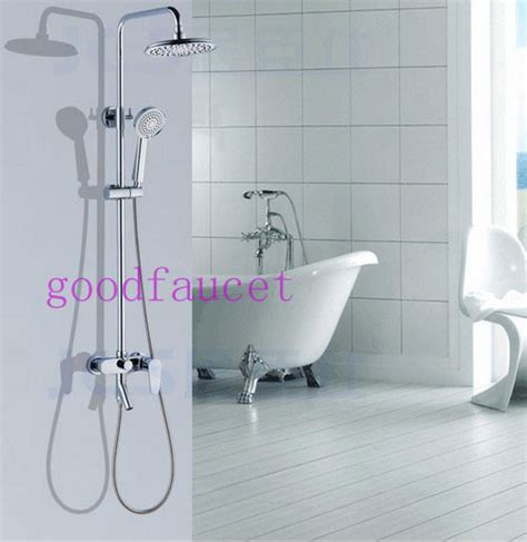 luxury modern shower set faucet full brass shower head