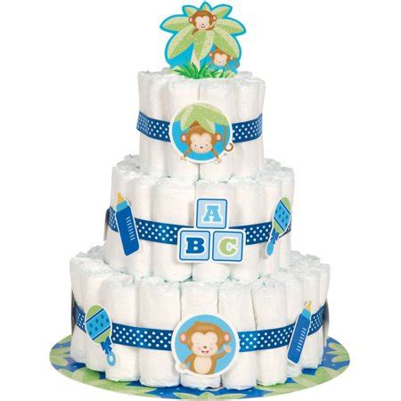 baby shower cakes at walmart blue monkey baby shower cake kit 25pc walmart