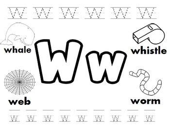 letter w worksheets by kindergarten swag teachers pay teachers