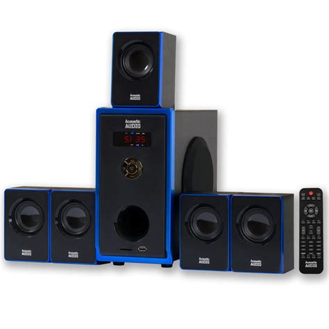 surround sound system acoustic audio aa5102 5 1 home theater speaker system surround sound multimedia 784620027448 ebay