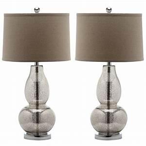 Safavieh mercurio 285 in antique silver table lamp with for Gazzetta 5 light table lamp