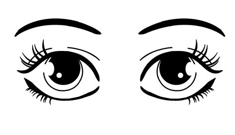simple eye clipart black and white simple clipart clipground