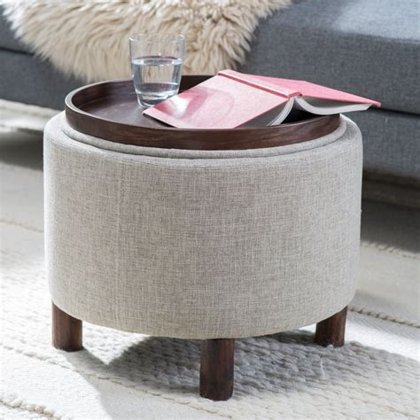 round ottoman with tray best 25 small storage ottoman ideas on pinterest diy