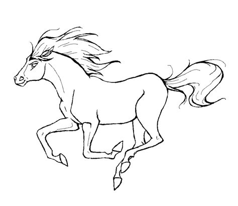 idee  coloriage cheval spirit imprimer classic work