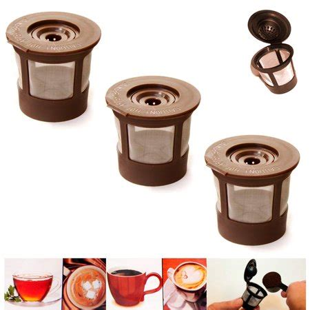 You are now subscribed to the walmart newsletter. 3X Reusable Single K Cups Keurig Coffee Machine Refillable Stainless Filter Pods - Walmart.com