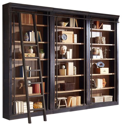 Wall Bookcases by Alcott 3 Bookcase Wall Transitional Bookcases