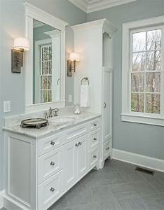 Beautiful master bathroom complete with his and hers ...