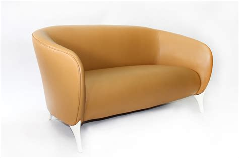 Curved Settee by Curved Back Leather Settee