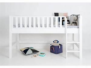 Bett 90 X 200 Weiß : sanders fanny halbhohes hochbett 90 x 200 ~ Bigdaddyawards.com Haus und Dekorationen