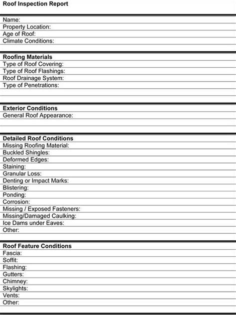 Roof Certification Form Template by Roof Inspection Report Template Tm Sheet