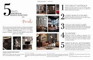 chronique conseils design d39interieur avril magazine With magazine decoration d interieur