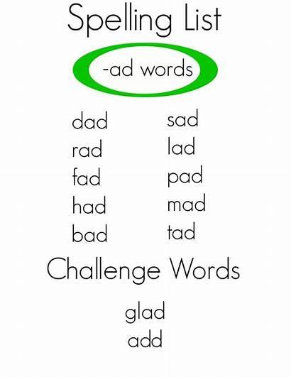Words Ad Spelling