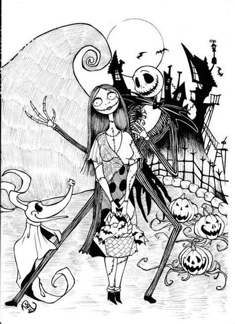 jack skellington coloring pages halloween  printable