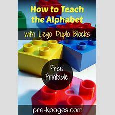 How To Teach The Alphabet With Lego Duplo Blocks