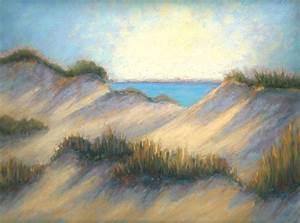 quot summer dunes landscape pastel paint quot by nancy poucher