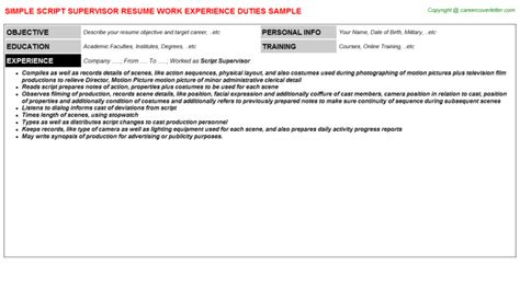 Script Supervisor Resume  Resume Ideas. College Lecturer Resume Sample. Which Of These Is True Regarding Good Resume Writing. Barback Resume. Hr Functional Resume. Review My Resume. Construction Estimator Resume. Resume Maker Pro. Sample Resume For Clerical Administrative