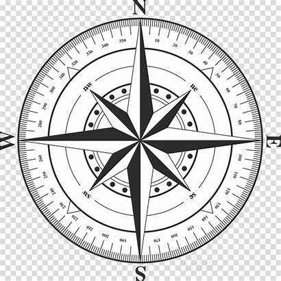Compass Clipart Transparent Circle Rose Background Illustration