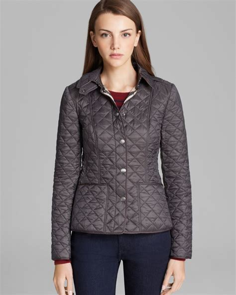 s burberry quilted jacket burberry brit kencott quilted jacket in gray lyst