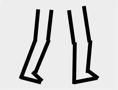 Legs Clipart Stick Feet Walking Cartoon Drumstick