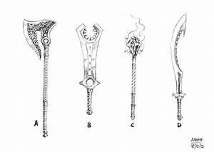 Weapons design 01 by anghorkheng on DeviantArt