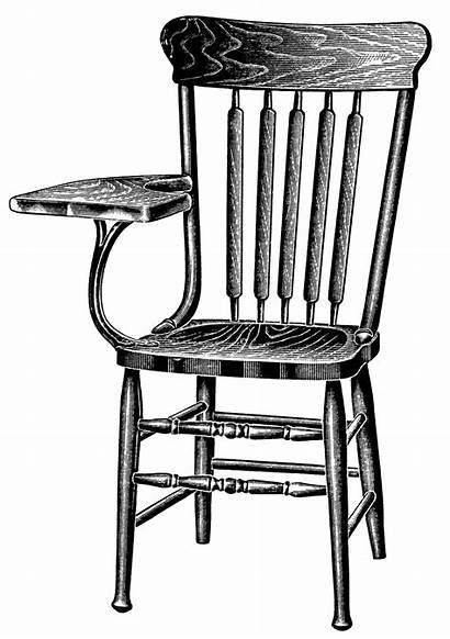 Chair Clip Clipart Arm Chairs Tablet Wooden