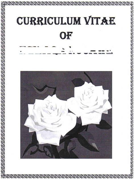 curriculum vitae curriculum vitae cover sheet