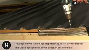 Wellplatten Verlegen Video : gartenhaus dach mit trapezblech decken so geht 39 s youtube ~ Articles-book.com Haus und Dekorationen