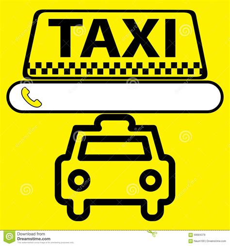 taxi cab me phone number sticker logo or icon taxi service stock vector image