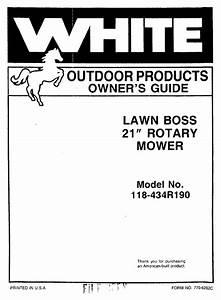 Lawn Boss 118-434r190 Manuals