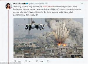 Diane Abbott posts fake image of Israeli fighter jet ...