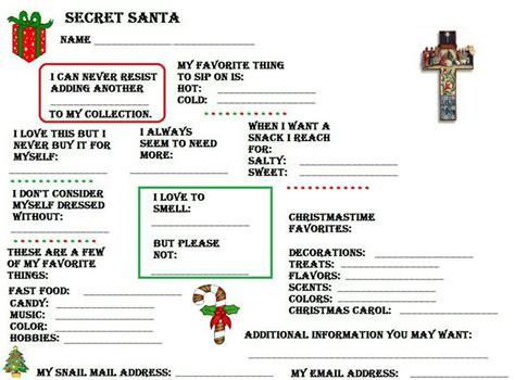 gift exchange interest surveys best 25 secret santa questions ideas on present questionnaire secret