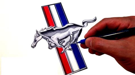 Ford Mustang Logo by How To Draw The Ford Mustang Logo