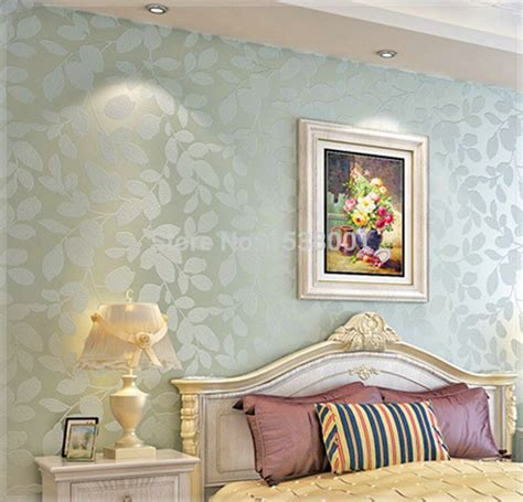 Tapete Blau Schlafzimmer by Non Woven Light Blue Leaf Embossed Wallpaper Warm
