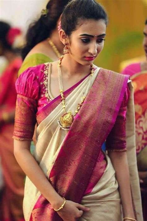 find  traditional puff sleeve blouse designs ideas  pattu saree blouse designs blouse