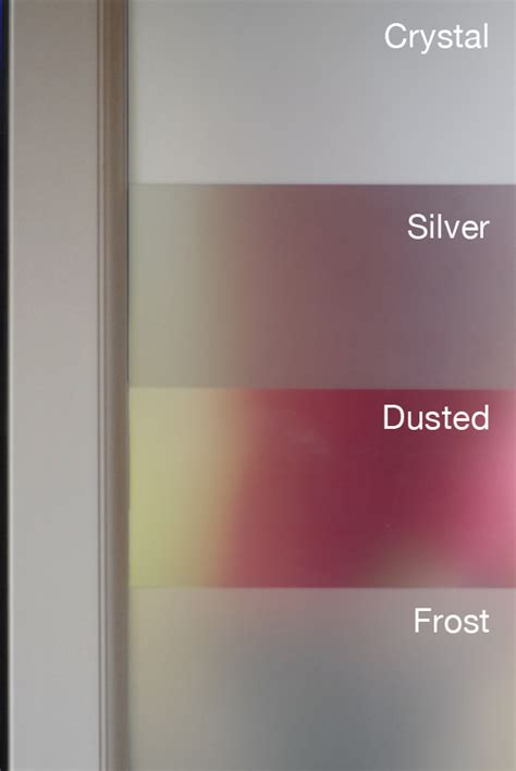 dusted premium etch glass window film  year life
