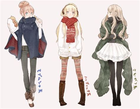 Anime For u0026gt; Anime Girl Winter Outfit | Clothing References-And other design stuff. | Pinterest ...