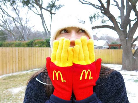 mcdonalds sweater these fry gloves your fingers look like fries