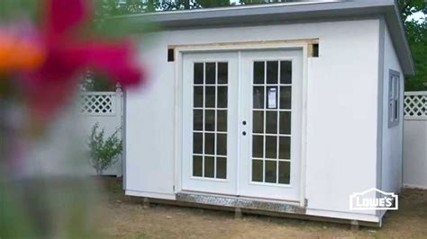 install french doors   shed youtube