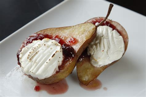 roasted pear dessert two a healthy
