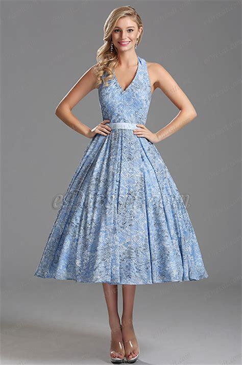 light blue tea length dress light blue plunging v neck tea length party dress x04161232