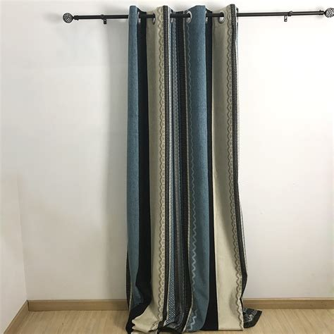 multi color curtains new arrival chenille multi color striped curtains