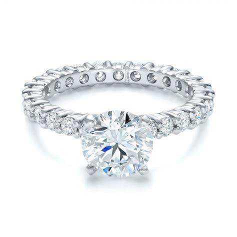 custom diamond eternity engagement ring 102170