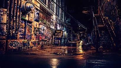 4k Graffiti Urban Street Wall Night Wallpapers