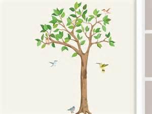 wandsticker baum kinderzimmer wandtattoo baum mit vögeln kinderzimmer babyzimmer