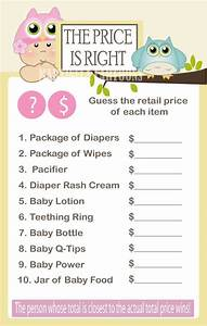 the price is right baby shower game baby shower ideas With free printable price is right baby shower game template