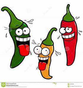 Cartoon hot chili peppers stock vector. Illustration of ...