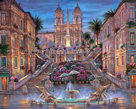 spanish steps hd wallpaper background image