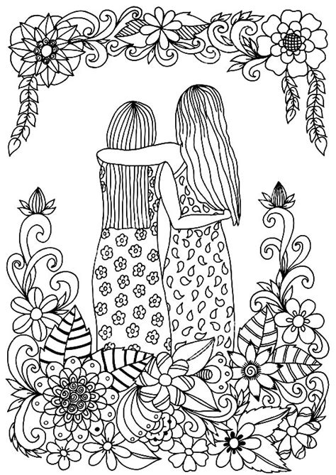 antistress  girls  years coloring pages