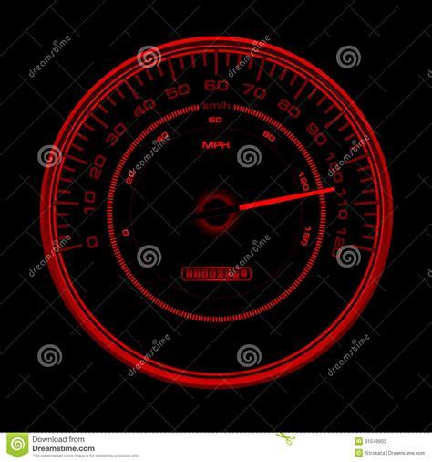 design  red speedometer speedo clock  inde stock