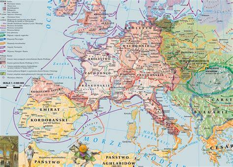 MAPA Europa wczesnośredniowieczna :: Pomocedydaktyczne.eu